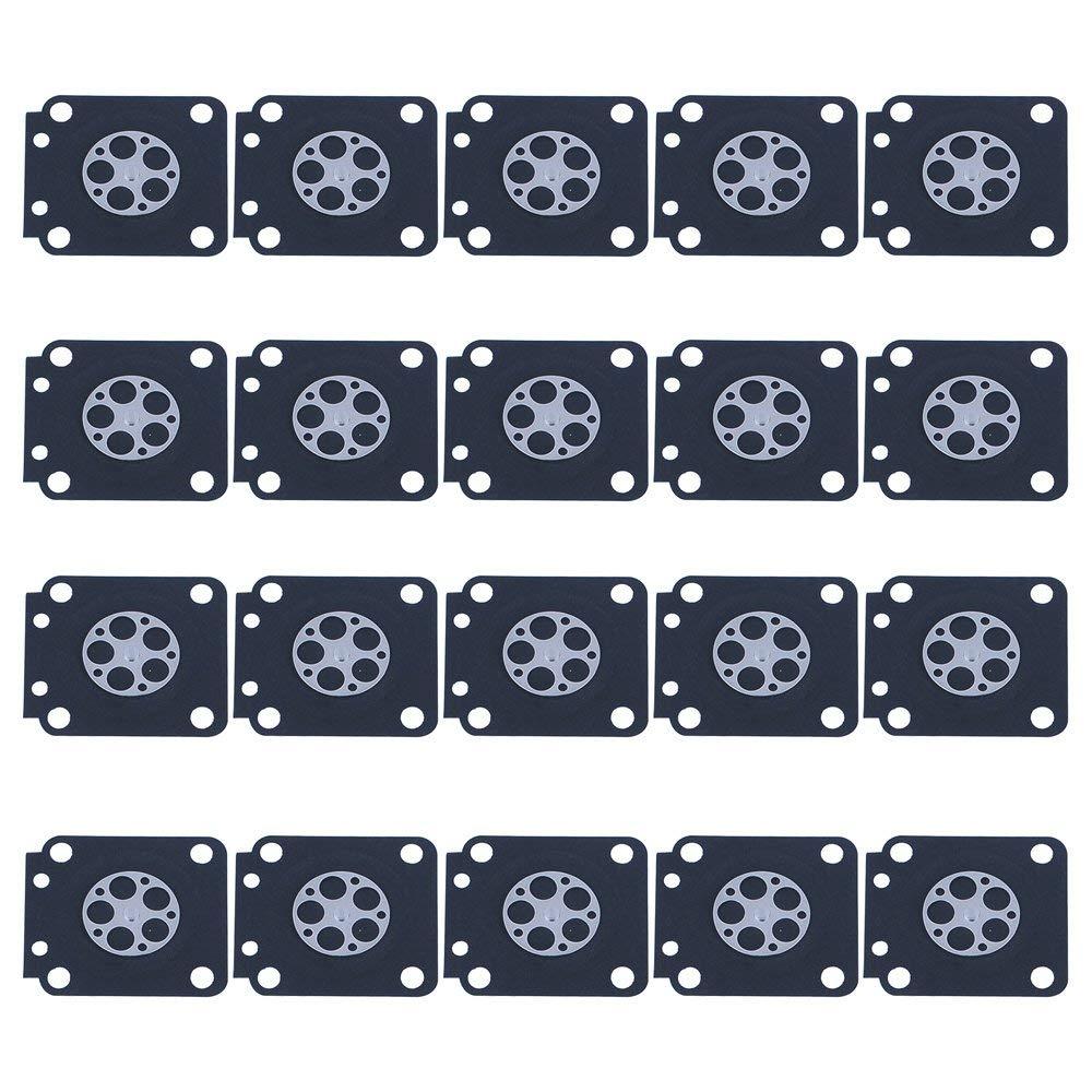 HIPA (Pack of 20) A015019 Metering Diaphragm Assembly for ZAMA C1M-W26 C1M-W26C C1M-W47 C1M-EL35 C1M-FR1 C1U-K39A C1Q-K73 C1U-K41A C1U-K81A Carburetor