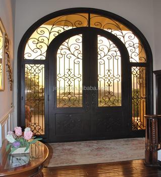Sale Modern Custom Design Garage Doors Cheap Wrought Iron Door