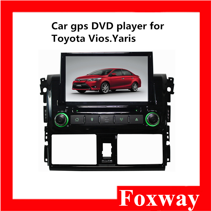2016 hot selling in-vehicle radio navigation 8 inch touch screen car gps dvd player for toyota vios yaris 2014