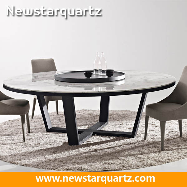 Round quartz dining table top for kitchen buy quartz for Quartz top dining table