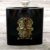 Ghost head design hip flask with water transfer printing process