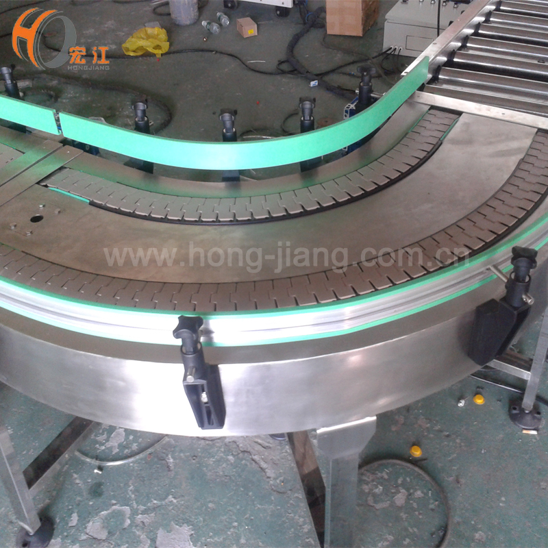 double 90 degree plastic stainless steel curved table top chain conveyors table top chain conveyor manufacturers