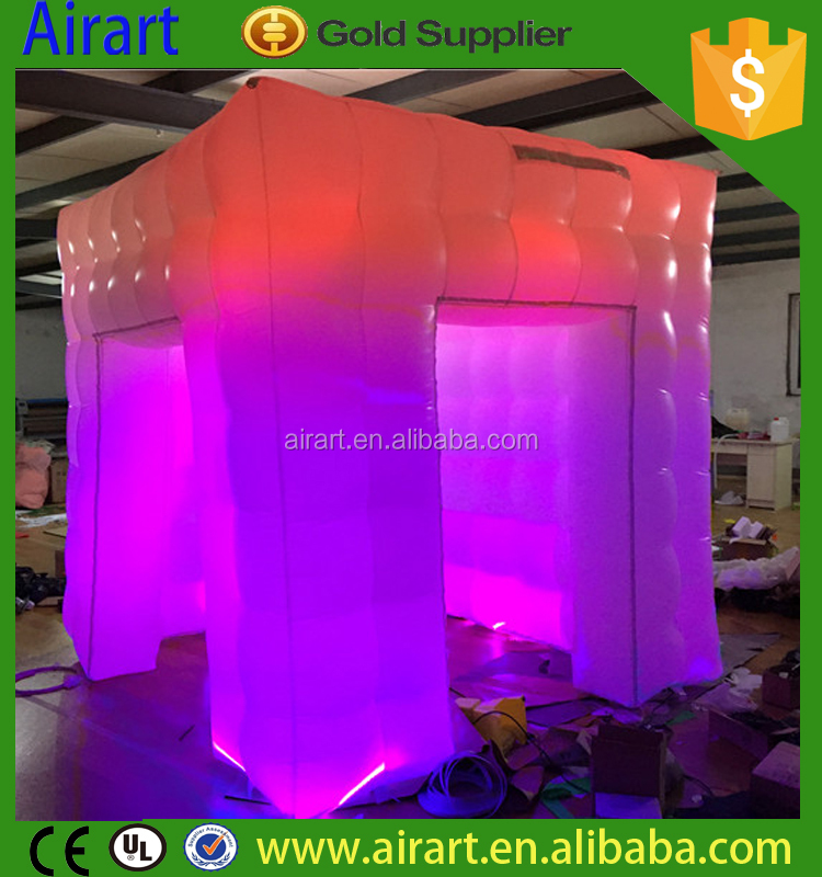 led inflatable photo booth inflatable dj booth