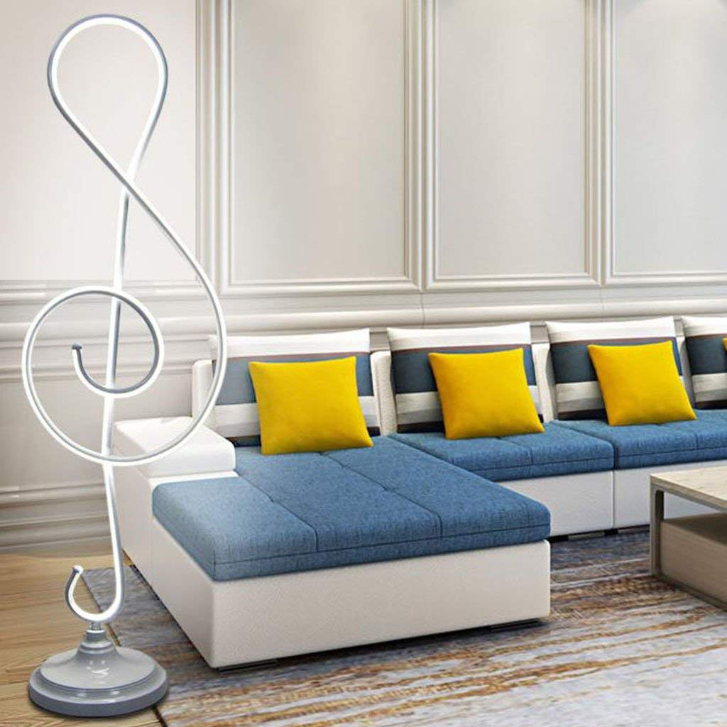 @Floor Lamps Vertical Floor Lamp, Study Bedroom Bedside Reading Lamp Living Room Simple Modern Creative Floor Lamp Lamps (Color : White)