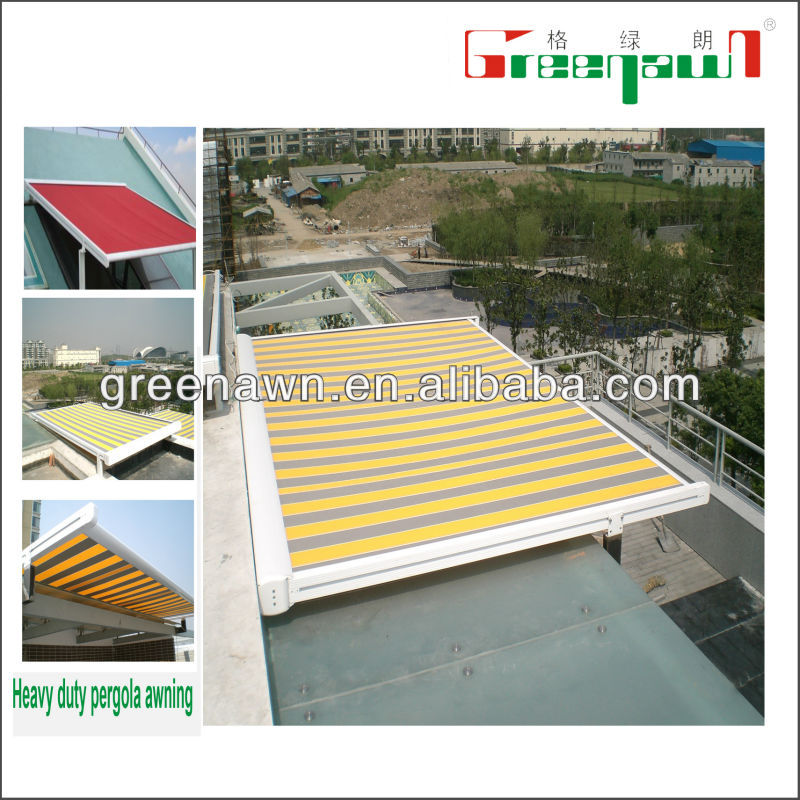 Durable motorized skylights/pergola aluminium/awning rail