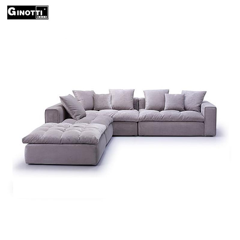 Micro Cream Velvet Sofa Living Room Furniture Online