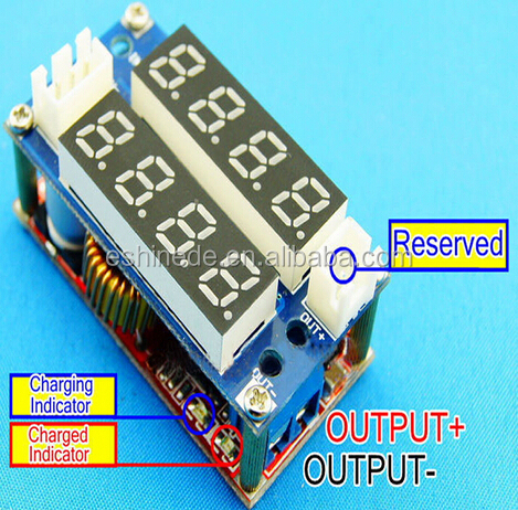 5A Adjustable CC//CV Step Down charge Module LED Panel Voltmeter Ammeter