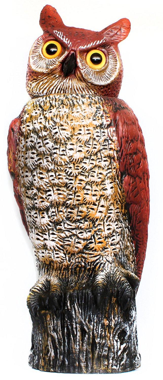 Garden Defense Scarecrow Owl With Rotating Head, X Large Size Scarecrow Owl