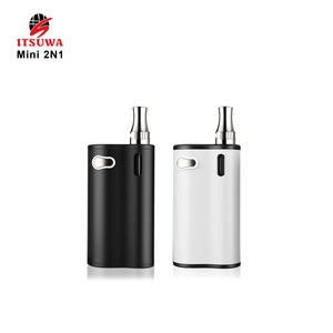 Itswua Cbd Oil Mini 2n1 E-vape Kits Liberty Tank Cartridge Vaporizer 1000mah preheating Variable Voltage 510 vape battery