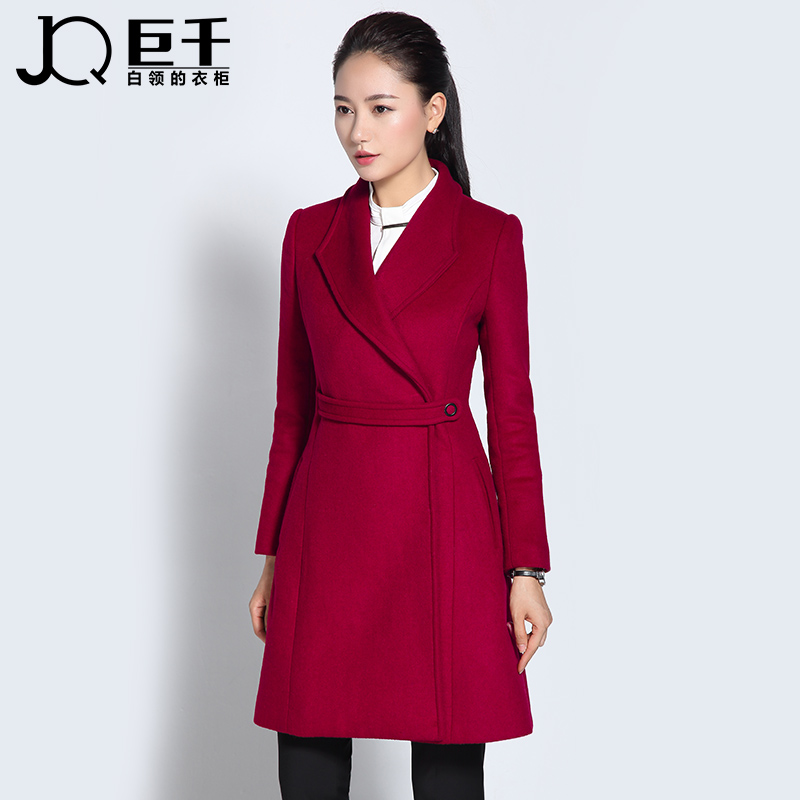 wool coat belted european trench new pant coat design women's coat