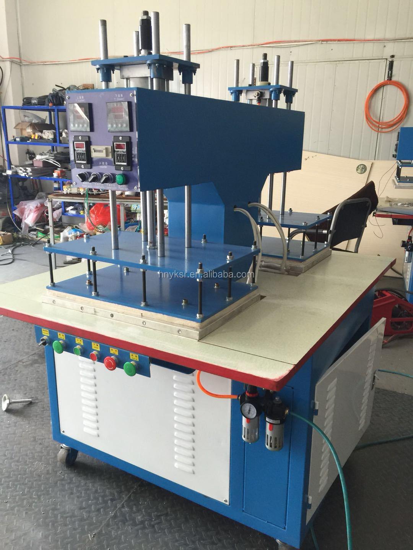 Embossing machine voor stof papier leer