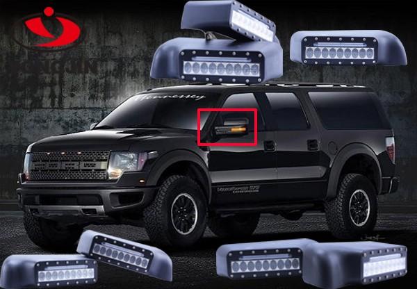 automviles y coche negro espejos con luz de seal de giro para jeep