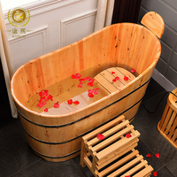 Chinese High Quality Natural Cedar Soaking Bathtub Bath Board Folding Bathtub