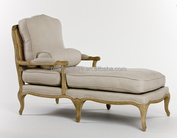 French Country Chaise Longue Antique Sofa Clic Long Chair