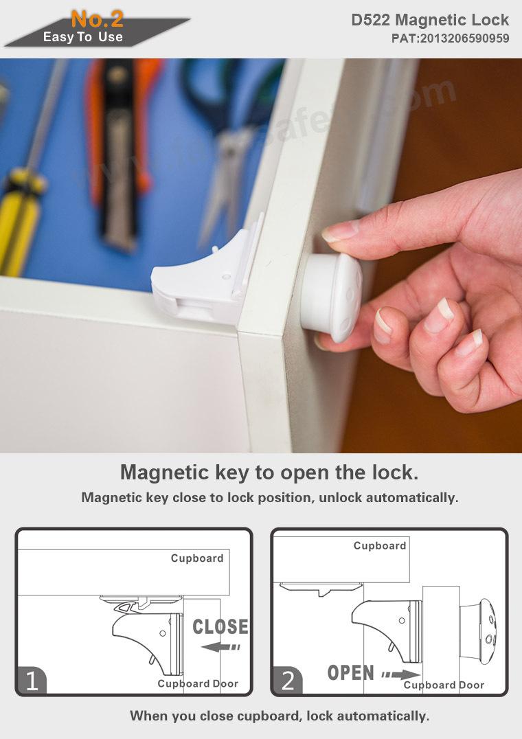 fabe d522 magnetverschlusssystem hidden kabinett sicherheitsschloss magnetische schrank. Black Bedroom Furniture Sets. Home Design Ideas