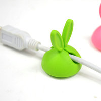 wholesale creative rabbit shape desk cable fixer holder