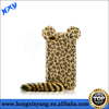 3D Leopard Mouse Ear Tail Rubber Cover Case Skin for iPhone 5