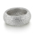 KENTURAY custom design cz pave jewelry genuine silver ring 925 sterling, pave ring silver 925