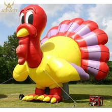 Christmas mascots courtyard decoration giant inflatable turkeys