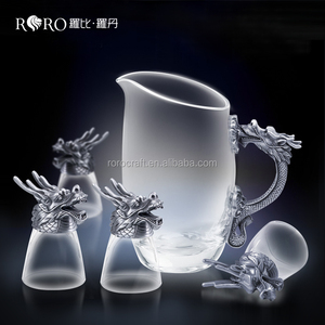 dragon head liqueur glass antique craft gift for leader white wine glass set