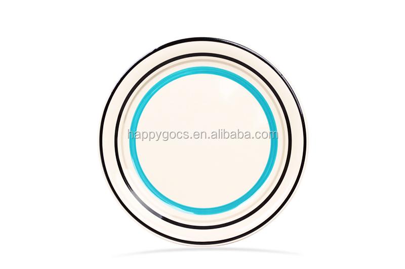 Spiricle Seramik El Boyama Yemek Tabakları El çizimi Salata