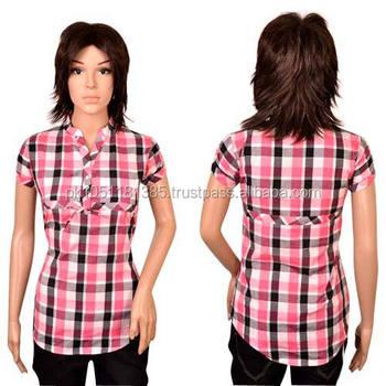 31fa040b77c Ladies Check Shirt - Buy Check Shirts For Girls