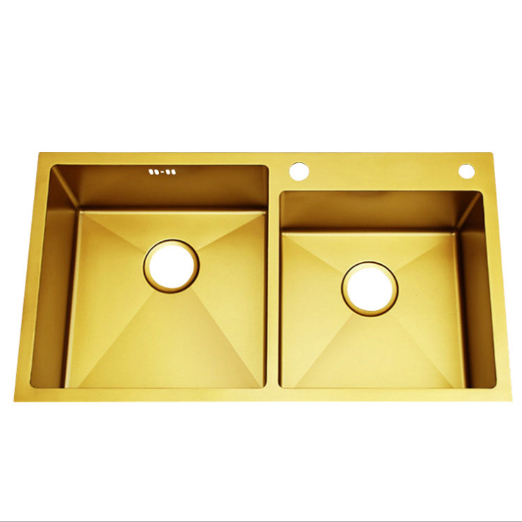 Customize Apron Wholesale Sink Accessories 201 Stainless Steel Small Double  Gold Color Kitchen Farmhouse Sink |309 - Buy 201 Wholesale Stainless Steel  ...