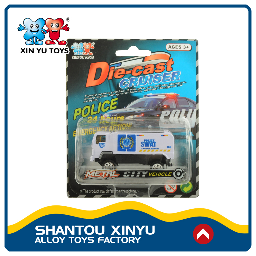 Shop promotion product diecast police vehicles plastic truck toy for kids