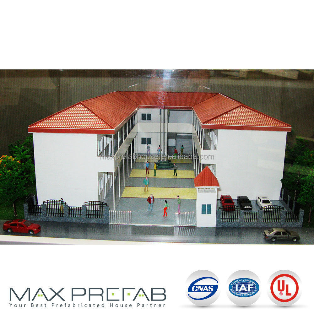 T5246U T modular steel structure prefabricated houses south africa for 34 room of school