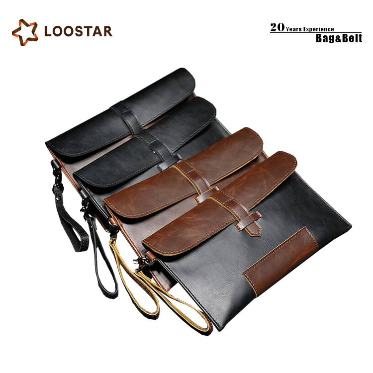 Wholesale High Quality PU Leather Men's Clutch <strong>Bag</strong>