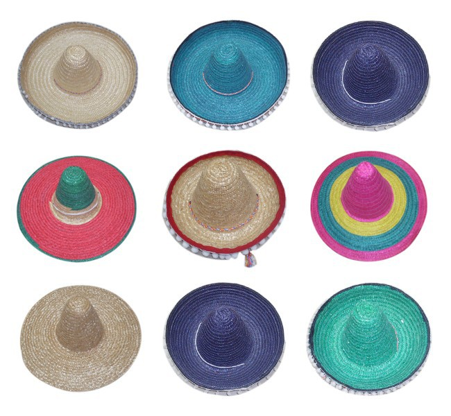 Wholesale Mexican Sombrero Straw Hat in YiWu