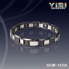 white germanium ceramic bracelet magnetic ceramic bracelet black coral bracelet