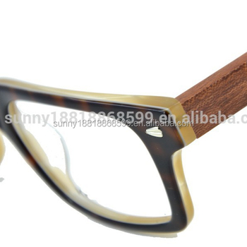 Straight Rectangular Wooden Temple Optical Frame 8092 - Buy Straight ...