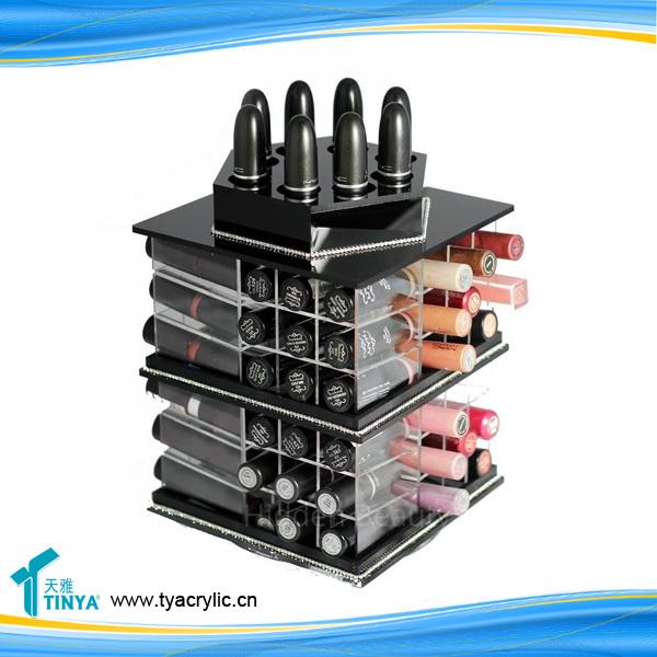 Оптовые 72 шлица 360 градусов поворачивая губная помада и держатель подставки для бала под губы для губ Pop Acrylic Round Cosmetic Display Racks