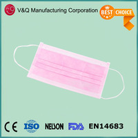 Disposable factory non woven pink surgical face mask