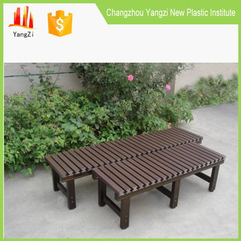 Cast Aluminum Outdoor Furniture Wood Patio Garden Bench