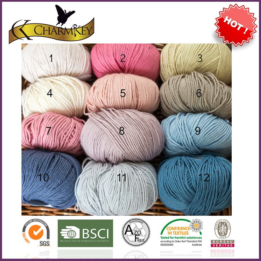 100% Healthy bamboo yarn for knitting baby cloth made in China with top quality