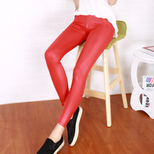 LF50 Leather leggings women leggings thin section feet pants was thin outer wear trousers big yards Leggings