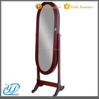 YL3027 Wooden Mirrored Floor Standing Jewelry Cabinet Furniture Wood