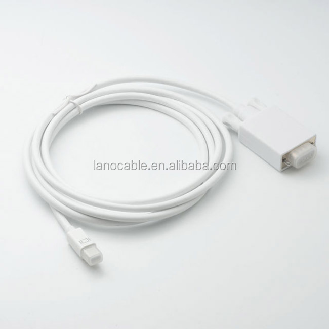 Wholesale supply fashionable classical 1080P mini dp to vga cable white for monitors tvs