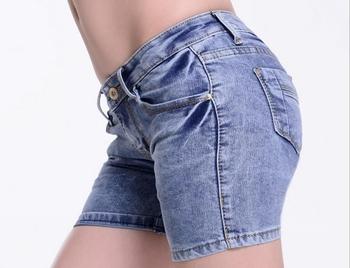 Korte Broek Dames Spijker.China Fabriek Groothandel Dames Jeans Shorts Dames Denim Strakke