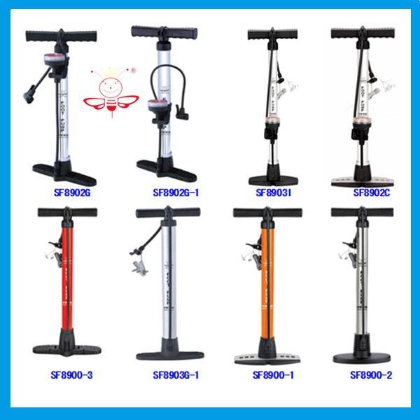 Bike Floor Pump With Pressure Gauge Use For Bicycles Motorcycles ...
