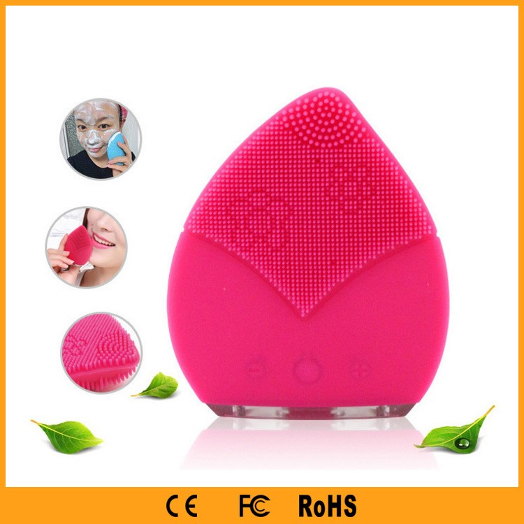 Electric Facial Cleansing Handheld Silicone Facial Brush