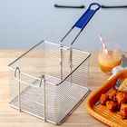 2019 hot sale 201 stainless steel Small Frying Basket Chip Fish Takeaway Deep Fat Commercial Fryer