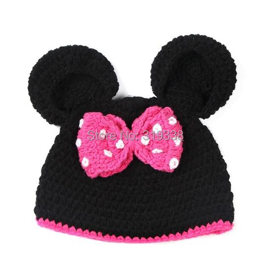 Kids Crochet Hat Pattern Baby Mouse Hats Animal Beanies