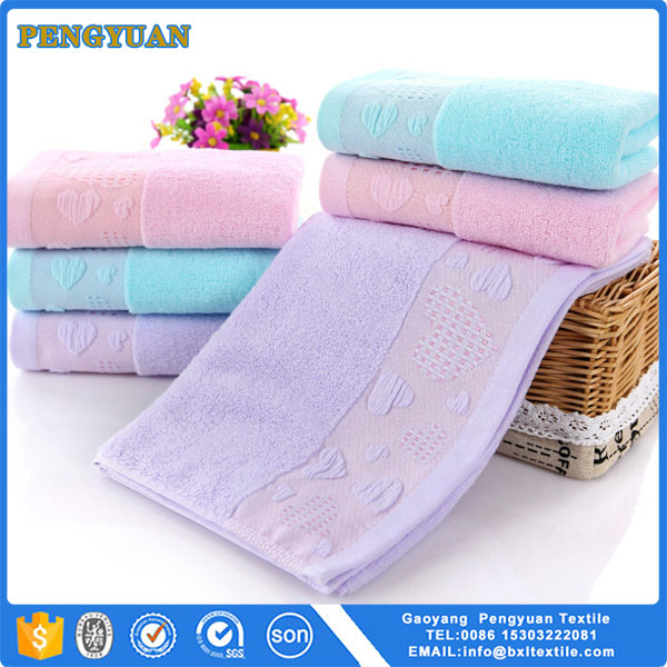 Super Value Plain Color 33x74cm Mini Size 100% cotton Face Towel With Low Price