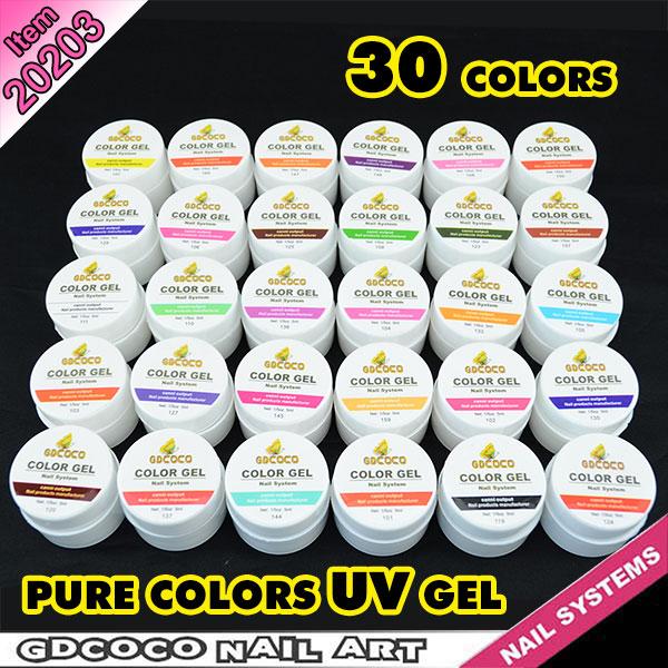 20203j Gdcoco Soak Off Pure Uv Color Gel System 30 Colors