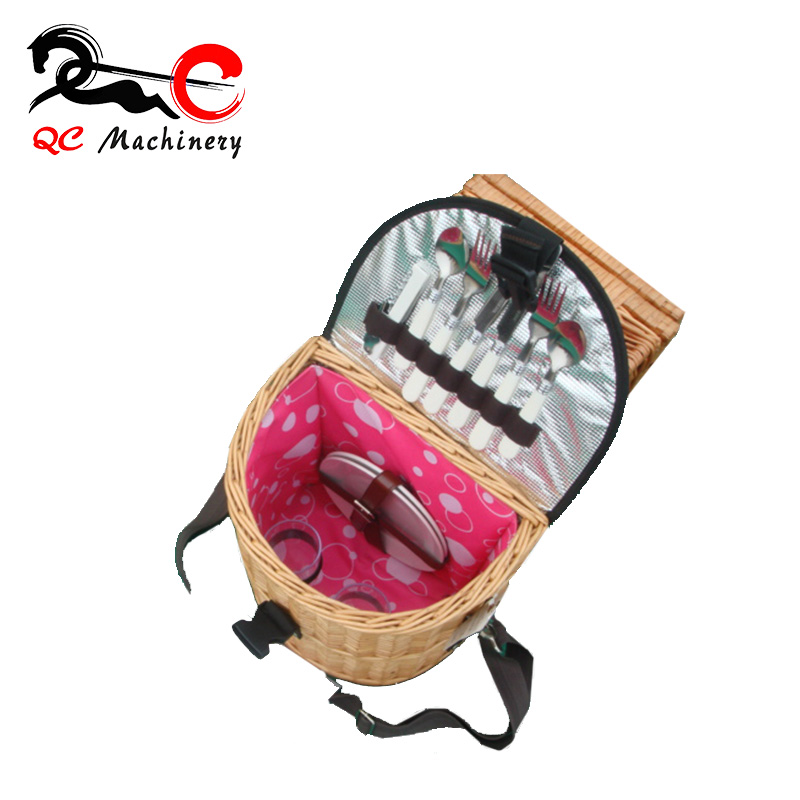 chinese mini bamboo basket , small wicker picnic rattan storage basket
