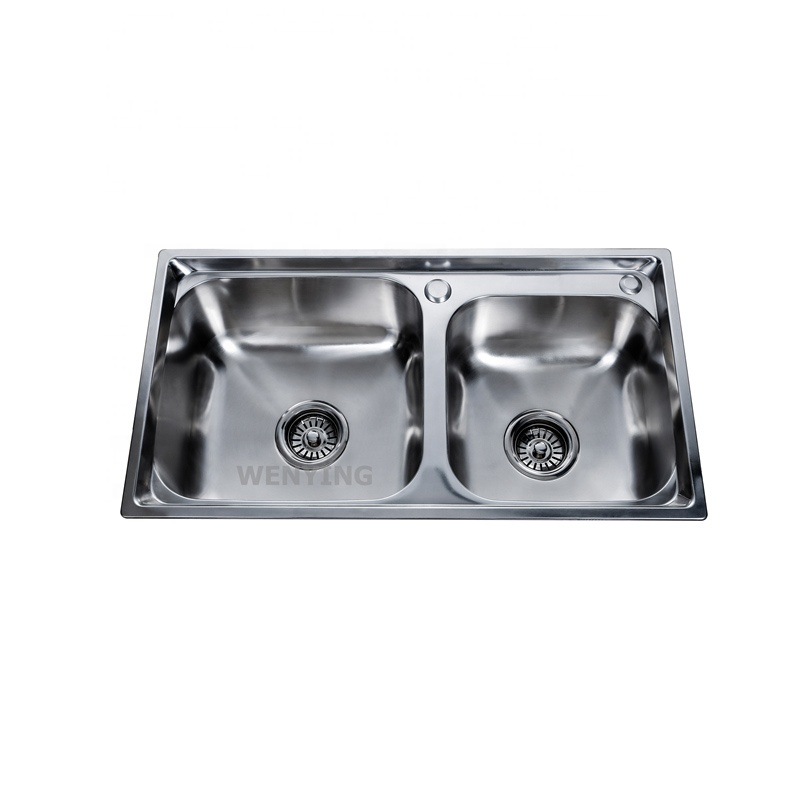 Modern Design Foshan Factory Made Cheap Prices Double Bowls Stainless Steel Wash Basin Two Bowls Kitchen Sink Buy Double Bowls Stainless Steel Wash Basin Double Kitchen Sink Cheap Undermount Sinks Product On Alibaba Com