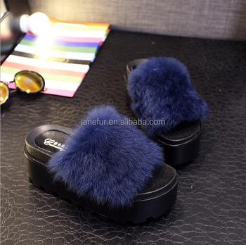 966ba8d32ee New Design Plush Rabbit Fur Fancy Lovely Ladies Fur High-heeled Slipper  Casual Style - Buy Plush Rabbit Fur Slipper,High-heeled Style,Casual Style  ...